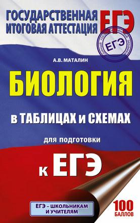 ЕГЭ. Биология в таблицах и схемах для подготовки к ЕГЭ Маталин